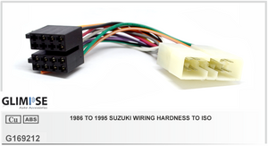 1986 to 1995 Suzuki Wiring Hardness to ISO