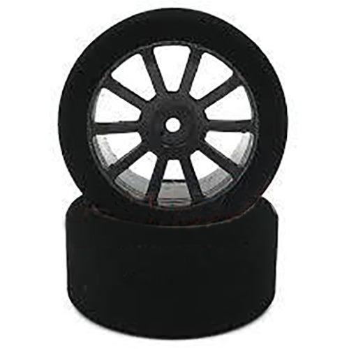 Matrix Racing Pre-Assembled Rear 40 Shore AIR 30mm Foam Tire 2 pcs w/ Carbon Wheel For 1/10 On Road RC