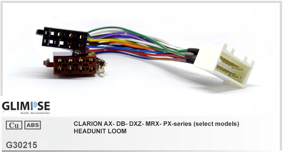 CLARION AX- DB- DXZ- MRX- PX-series (select models) Headunit Loom