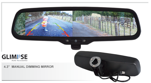 4.3 inch Manual Dimming Reverse Mirror Monitor #78 Bracket