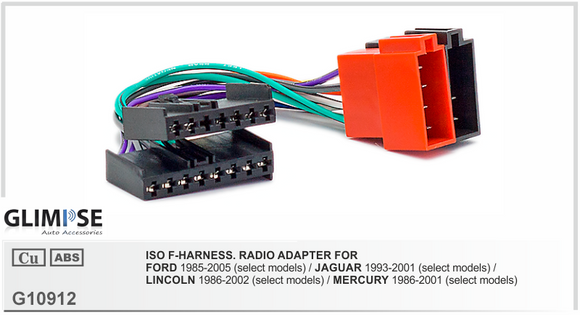 ISO F-HARNESS. RADIO ADAPTER FOR FORD 1985-2005