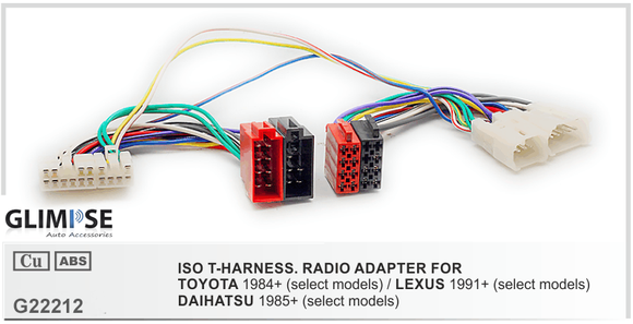 TOYOTA 1984+ (select models) / LEXUS 1991+ (select models) / DAIHATSU 1985+ (select models) ISO T-Harness