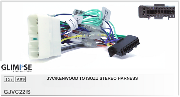 JVC/Kenwood 22 Pin to Isuzu Stereo Harness Headunit Loom