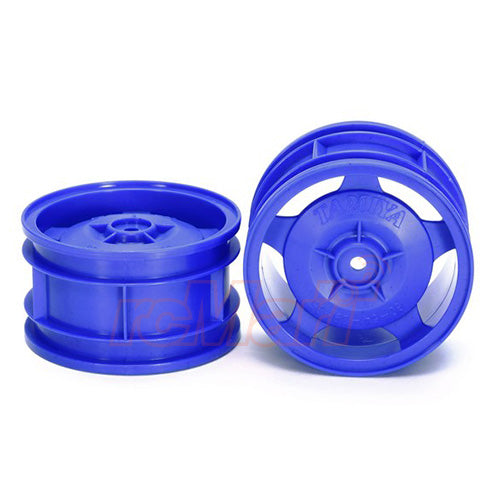 Tamiya Star Dish 4WD Rear off-road Buggy Wheels 2Pcs Blue