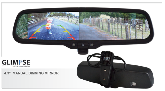 4.3 inch Manual Dimming Reverse Mirror Monitor #105 Bracket