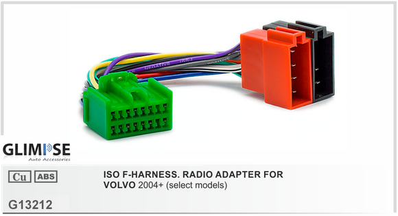 ISO F-HARNESS. RADIO ADAPTER FOR VOLVO 2004 on (select models)