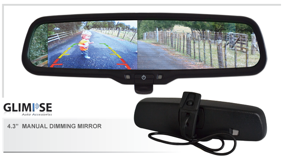 4.3 inch Manual Dimming Reverse Mirror Monitor #33 Bracket