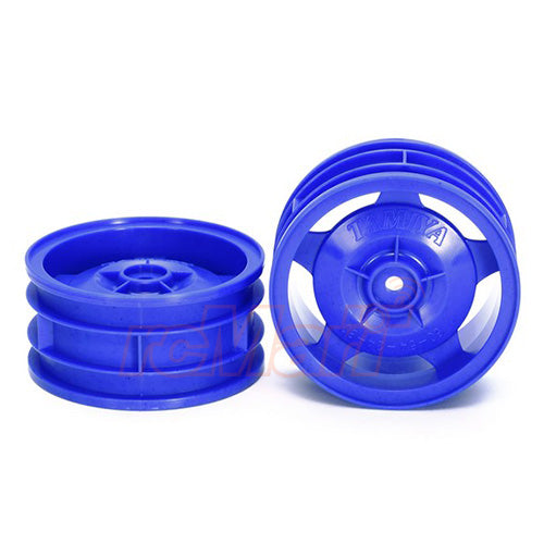 Tamiya Star Dish 4WD Buggy Front Wheels 2Pcs Blue