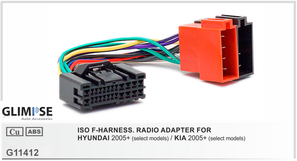ISO F-HARNESS. RADIO ADAPTER FOR HYUNDAI 2005 on / KIA 2005 on