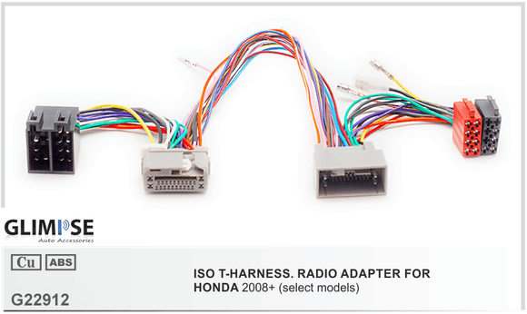 HONDA 2008+ (select models) ISO T-Harness
