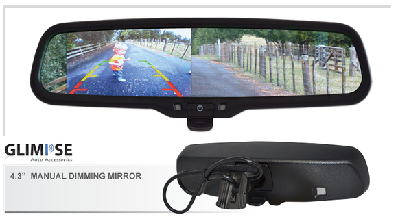 4.3 inch Manual Dimming Reverse Mirror Monitor #01 Bracket