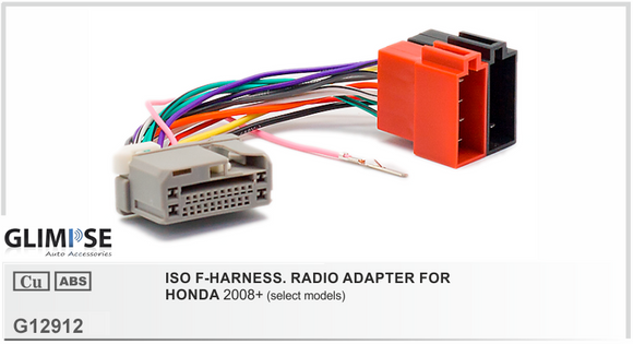 ISO F-HARNESS. RADIO ADAPTER FOR HONDA 2008 on