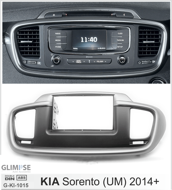 2-DIN Car Audio Installation Kit for KIA Sorento (UM) 2014+ Trim