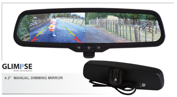 4.3 inch Manual Dimming Reverse Mirror Monitor #42 Bracket
