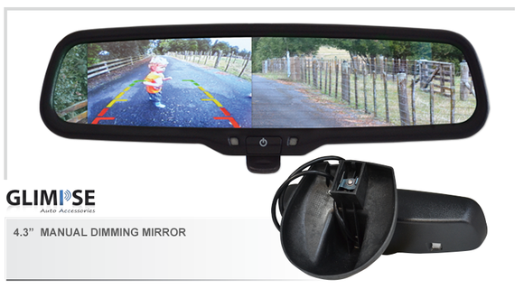 4.3 inch Manual Dimming Reverse Mirror Monitor #27 Bracket