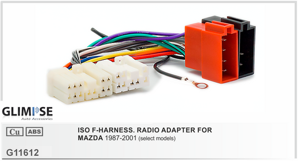 ISO F-HARNESS. RADIO ADAPTER FOR MAZDA 1987-2001