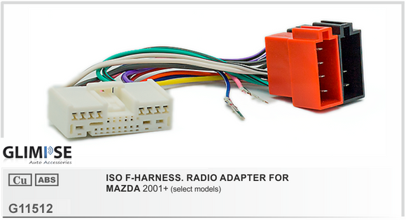 ISO F-HARNESS. RADIO ADAPTER FOR MAZDA 2001 on