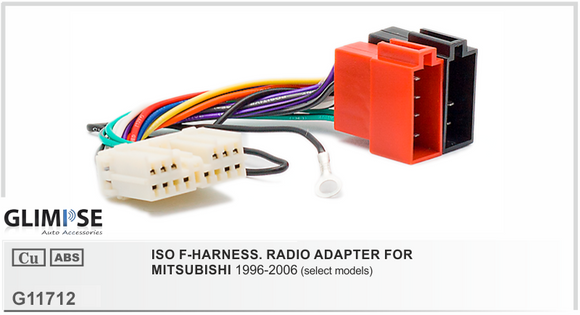 ISO F-HARNESS. RADIO ADAPTER FOR MITSUBISHI 1996-2006