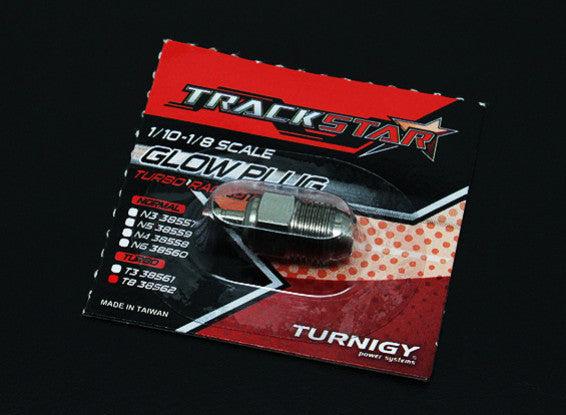 TrackStar 1/10~1/8 Scale Turbo Glow Plug No.8 (MEDIUM)