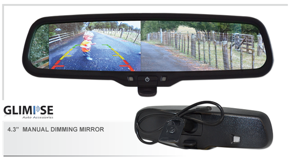 4.3 inch Manual Dimming Reverse Mirror Monitor #02 Bracket