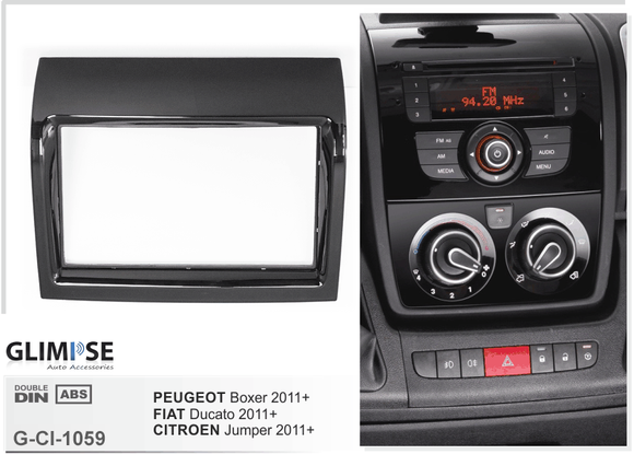 CITROEN Jumper 2011 on / PEUGEOT Boxer 2011 on / FIAT Ducato 2011 on (Piano black) Trim