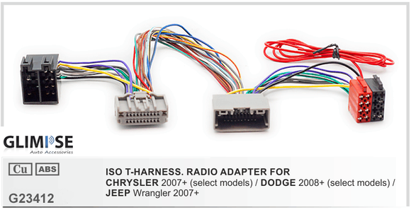 CHRYSLER 2007+ (select models) / DODGE 2008+ (select models) / JEEP Wrangler 2007+ ISO T-Harness