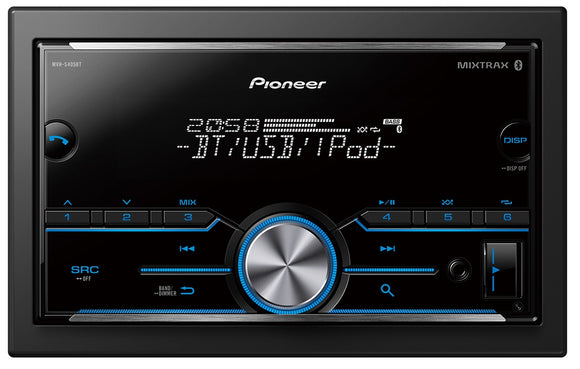 Pioneer MVH-S405BT 2DIN Mechles Multimedia Tuner with Dual Bluetooth Spotify Smartphone connectivity & Siri Eyes Free.