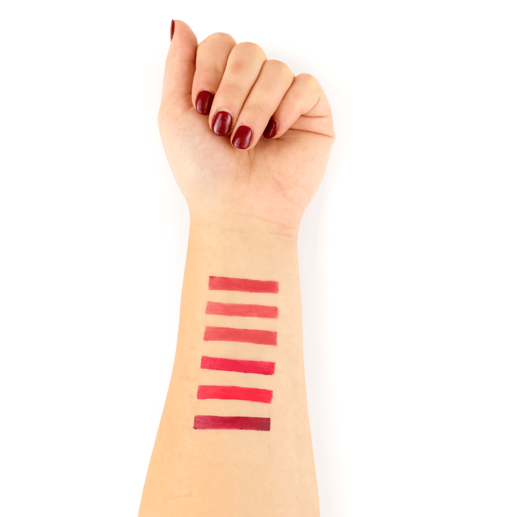 TIna Davis Lip Pigment Swatch on Hand