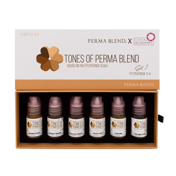 Clinical Academy Tones of Perma Blend - Fitzpatrick 3-4 Set 2
