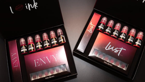 Tina Davis envy and lust lip collection permanent makeup lip pigment