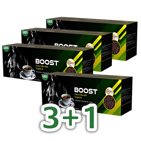 Boost 15 Grams x 10 Sachets (Robusta Coffee with Tongkat Ali & Barley)