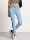 PECIJA Light Blue Slim Pockets Denim Pant