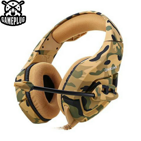FortMic Deluxe Gaming Camo Headset
