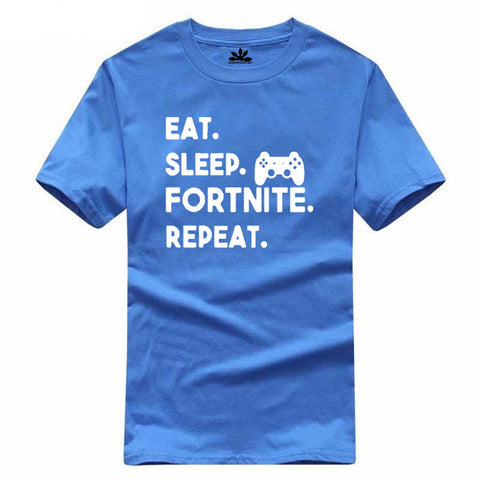 Eat Sleep Fortnite Repeat Multicolor Shirt