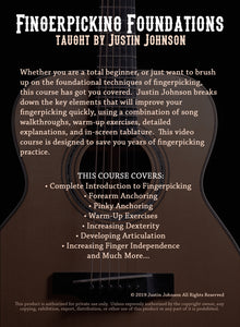 """Fingerpicking Foundations"" Guitar Lesson DVD Course"