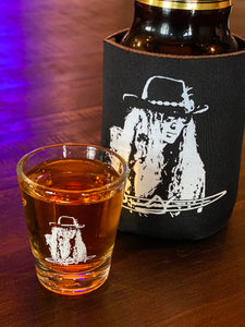 Justin Johnson Shot Glass... you know you want one!