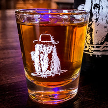 Load image into Gallery viewer, Justin Johnson Shot Glass... you know you want one!