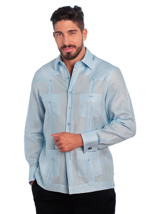 Guayabera Shirt Classic Collection French Cuffs Arcadio Diaz