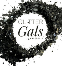 Load image into Gallery viewer, Matte Black Chunky Glitter Mix