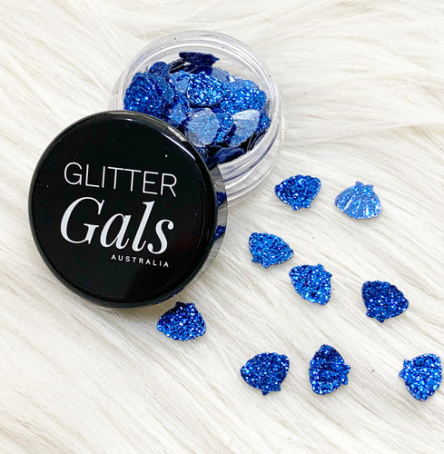 Dark Blue Glitter Mermaid shells