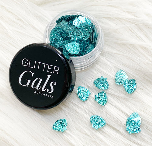 Blue Glitter Mermaid shells