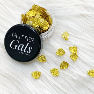 Gold Glitter Mermaid shells