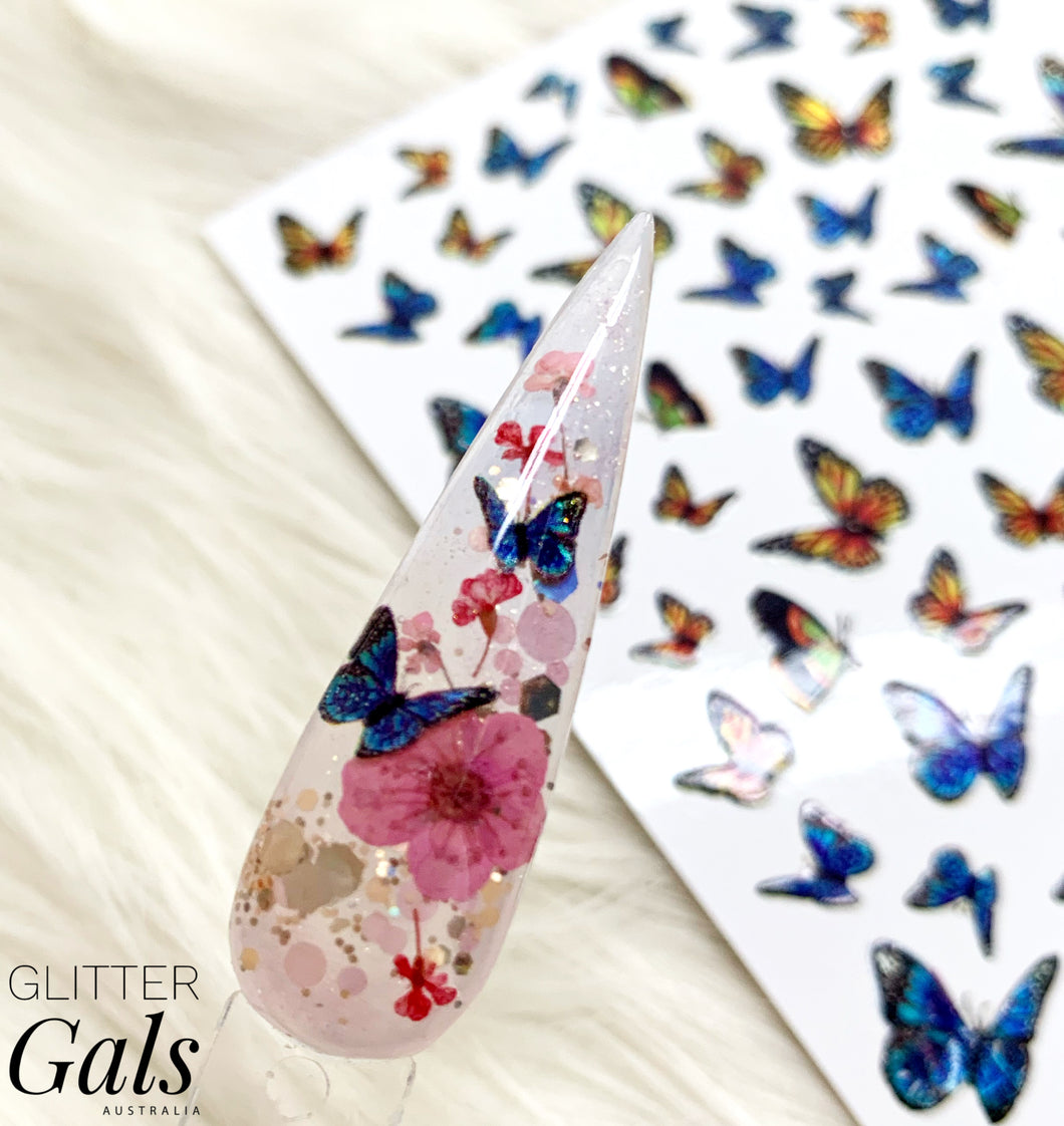 Holographic Butterfly Decal