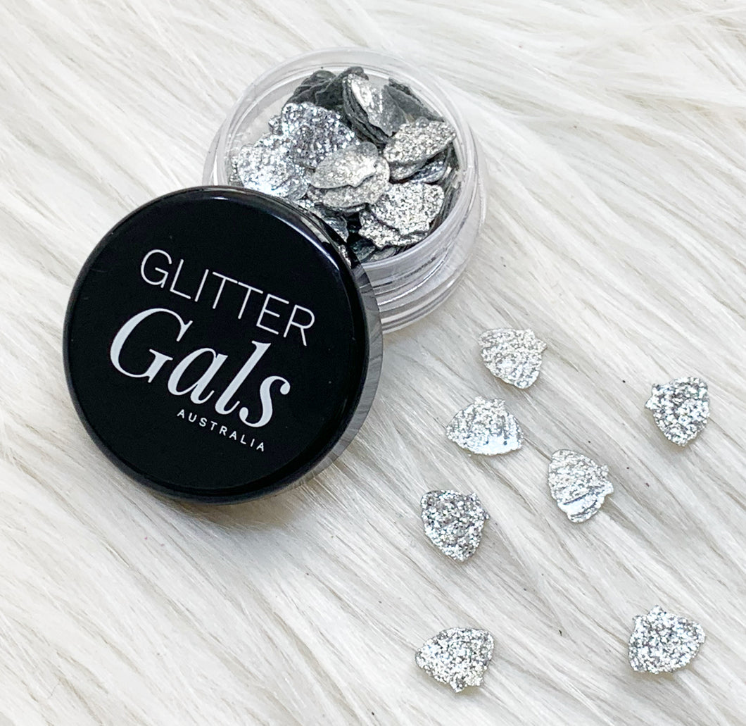 Silver Glitter Mermaid shells