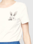 Pocket Rabbit T-Shirt - Mint Limit