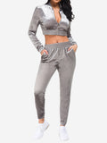 Sports Outfits with Drawstring In Grey - Mint Limit