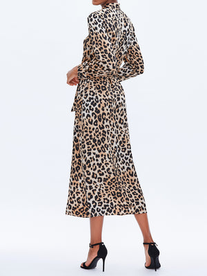 Leopard Midi Shirt Dress - Mint Limit