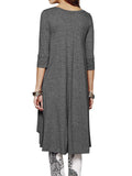 High Low Hem T-Shirt Dress In Grey - Mint Limit