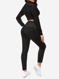 Sports Outfits with Drawstring In Black - Mint Limit