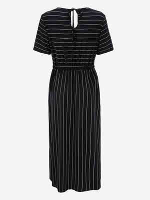 Stripe Maxi Dress With Tie Back - Mint Limit